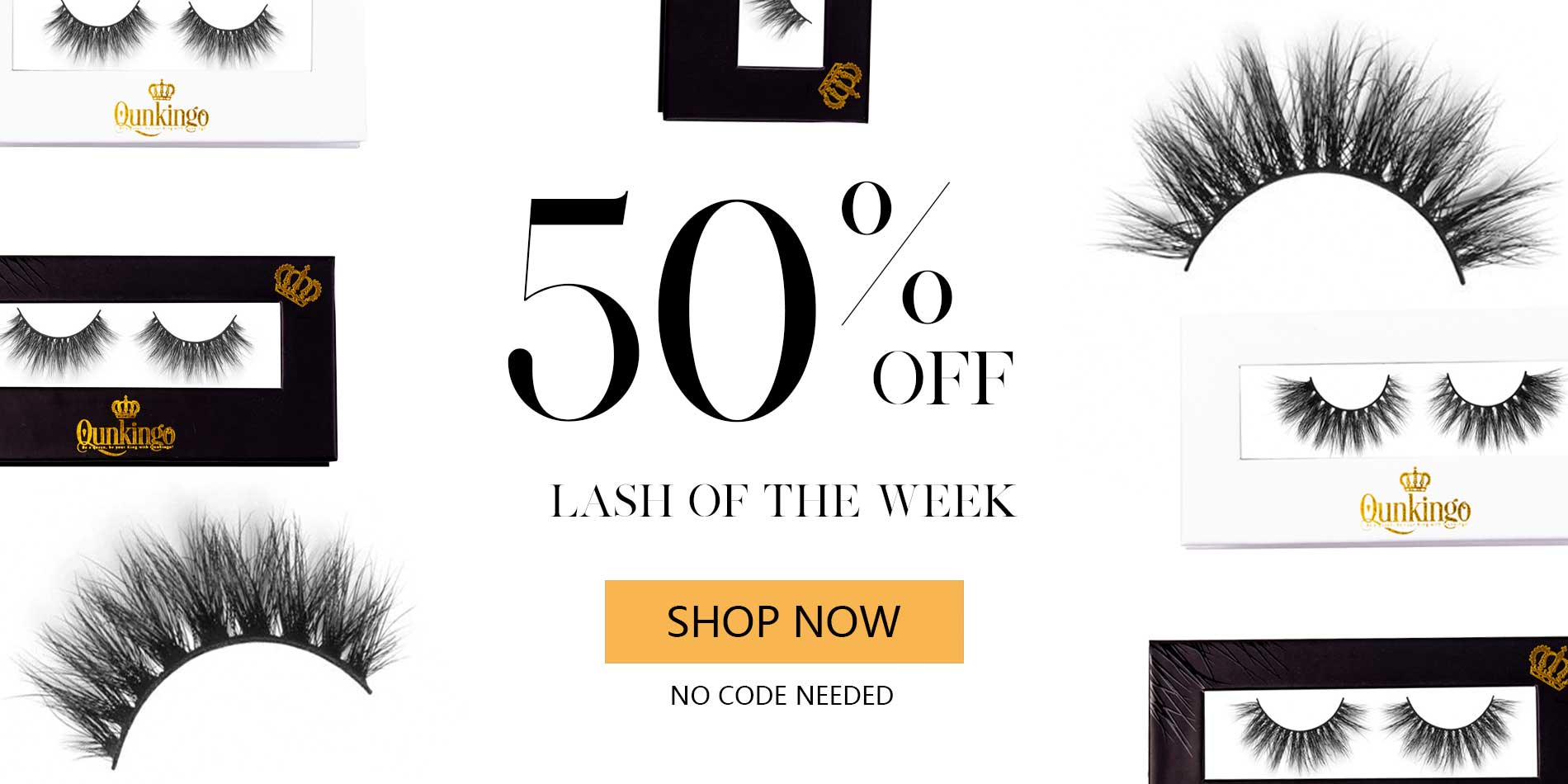 Mink Lashes 50% off